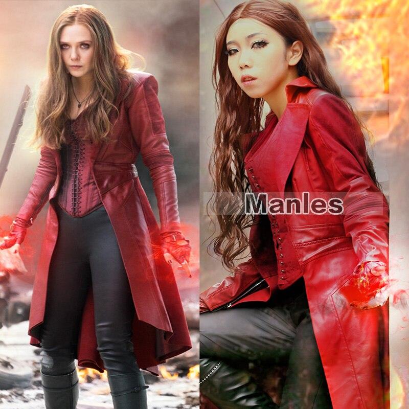 Movie Captain America Civil War Scarlet Witch Wanda Maximoff Cosplay Costume Halloween Adult Women Costume Scarlet Witch Costume