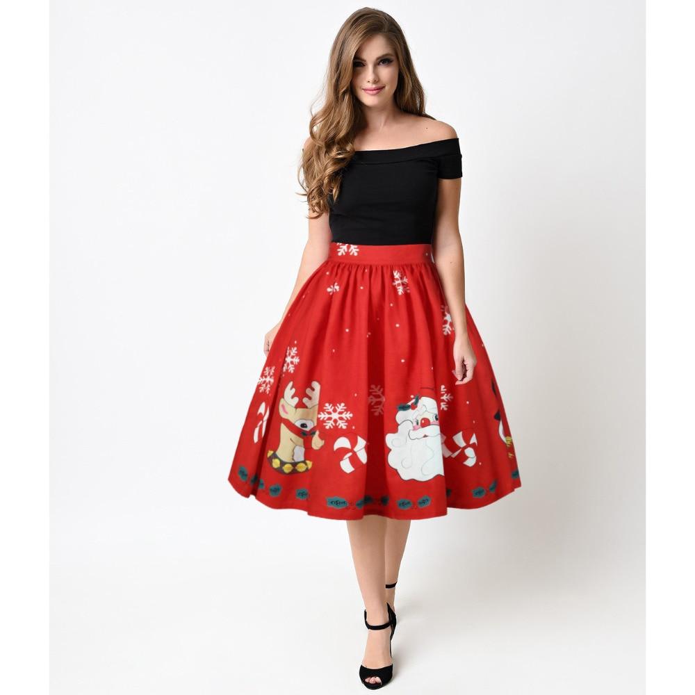 95f546a49 Compra christmas woman skirt y disfruta del envío gratuito en AliExpress.com