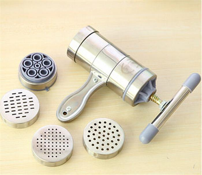 50pcs/lot Stainless Steel Noodle Maker with 5 Models Manual Press Pasta Machine