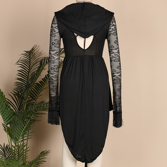 Halloween Black Dress Size S to 5XL 4