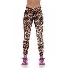 NEW KYK1081 Sexy Girl Women Coffee Bean 3D Prints High Waist Polyester Fitness Women Leggings Jogger Pants Plus