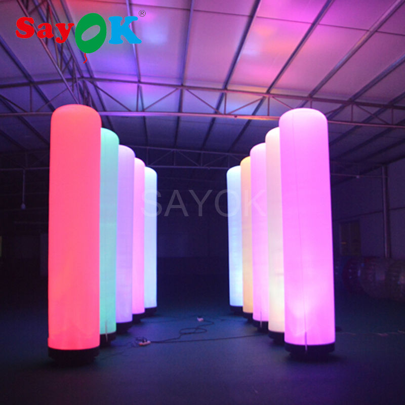 Gonfiabile Pilastro LED Glow in The Dark Air Dancer LED tubo Fly Ragazzo Burattino Combo Set con il Ventilatore per la Pubblicità evento