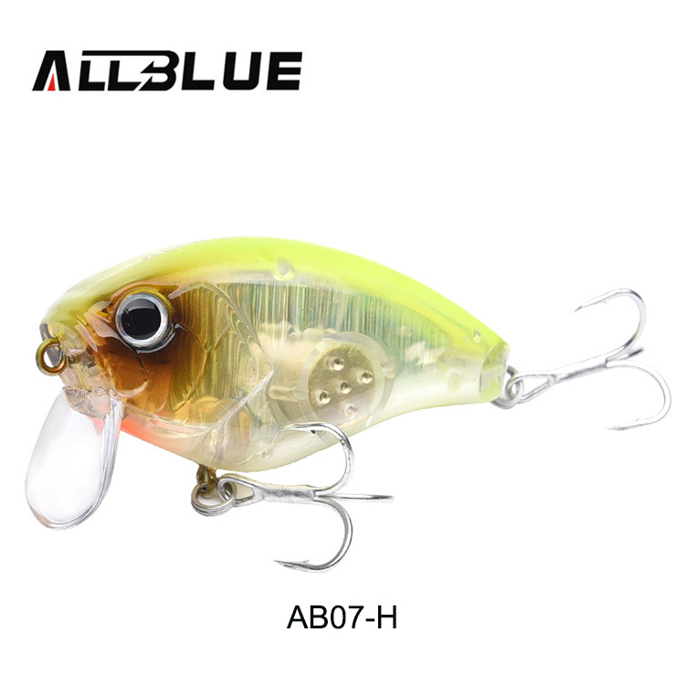 ALLBLUE Floating Shallow Diving Crankbait Fishing Lures 17g/60mm Lifelike  Wobblers With 6# Hooks isca artificial peche