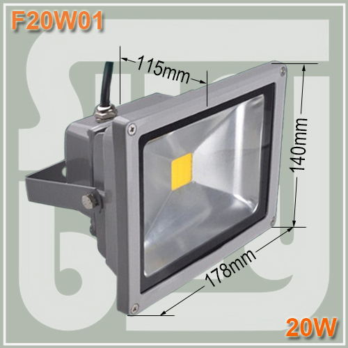 Фотография Free shipping EPISTAR LED high power 20W floodlight waterproof IP65 led street lamp wash wall outdoor 20W flood lights