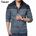 TANGNEST Men Casual Coats 2017 New Arrival Male Patchwork Fashion Hooded Coats Comfortable Winter Warm Parkas Size M-3XL MWM1612