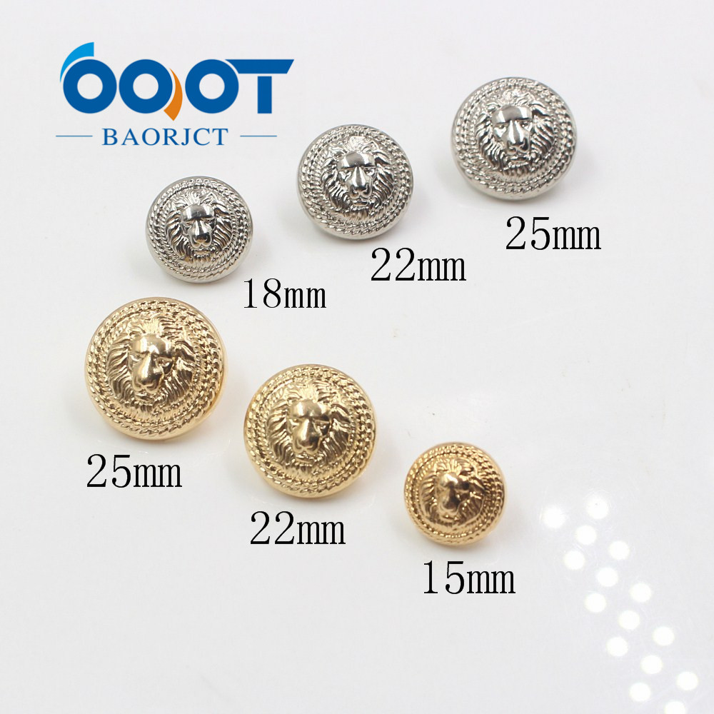 3d Lion Head 179165,10pcs Gold And Silver Vintage Antique Metal Blazer Button Set Uniform Elegant And Sturdy Package For Blazer Sport Coat Suits