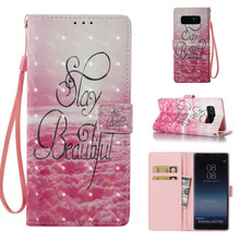 Patterned PU Leather Soft TPU Flip Wallet Case for Samsung Galaxy Note 8 Case Mobile Phone Bag For Samsung Note 9 Cover Case