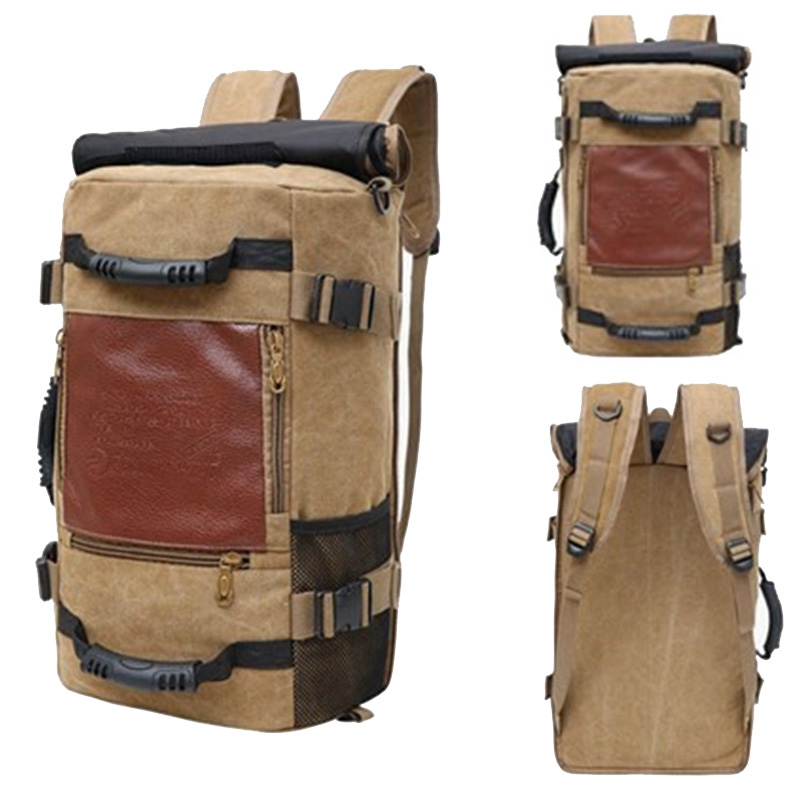 Grande capacidade dos homens mochila saco de viagem esportes casuais lona mochilas para o sexo masculino mutifunctional para fora da porta sacos escola pacote