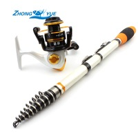 High Quality Fishing Reel And Rod Set Telescopic Fishing Rod + 10BB Carp Fishing Spinning Reel Rod Combo Free shipping
