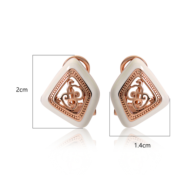 Gold Plated Stud Vintage Double Earrings