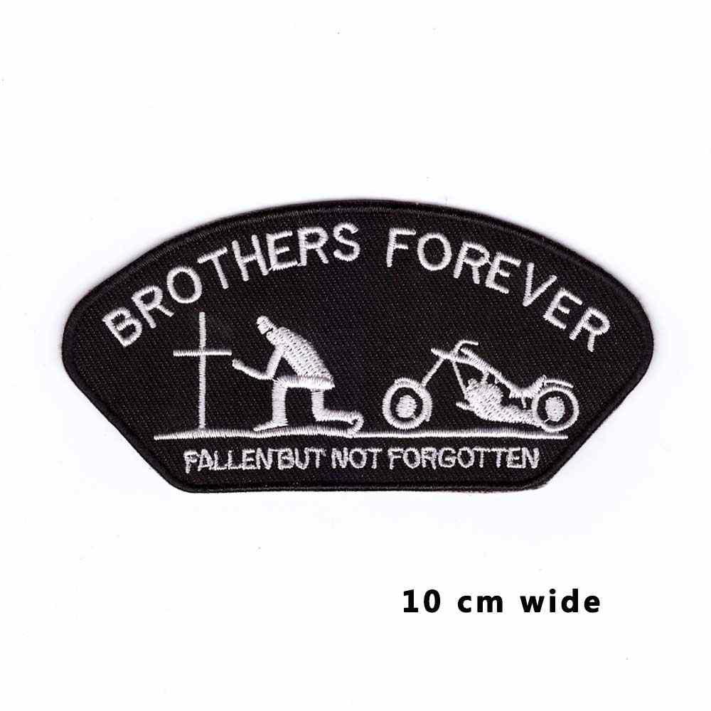 พี่น้องตลอดกาลเหล็กบนแพทช์ปักA Ppliqueจักรเย็บผ้าฉลากพังก์bikerแพทช์เสื้อผ้าสติกเกอร์อุปกรณ์เครื่องแต่งกายตรา