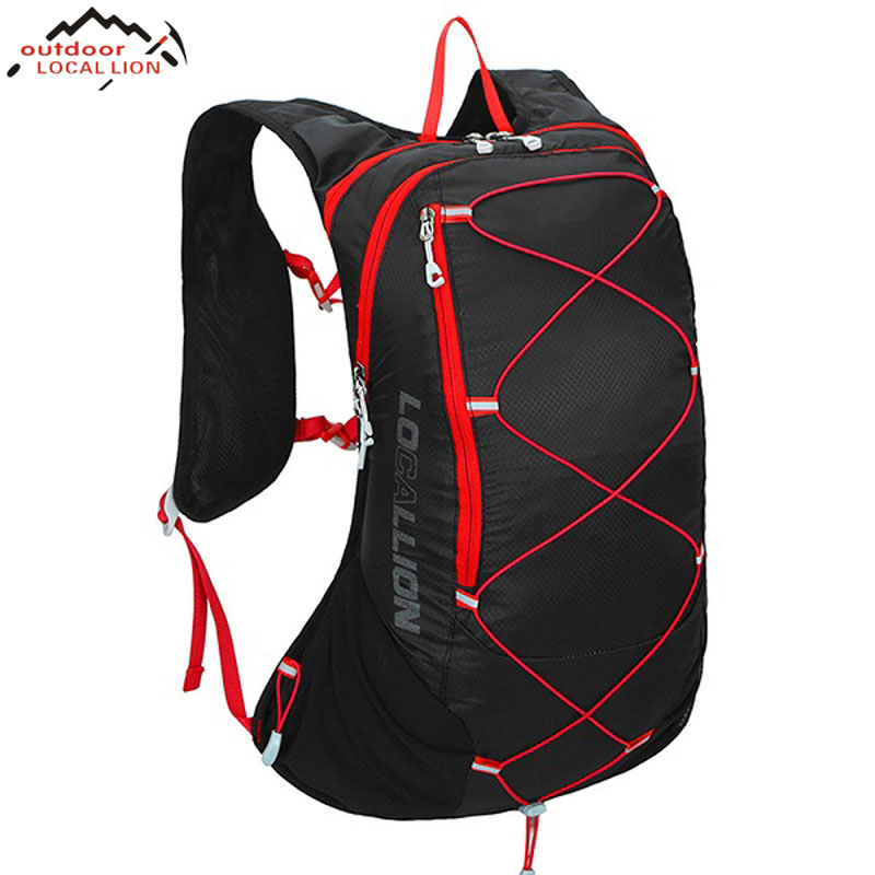 LOCAL LION Outdoor Lightweight Bicycle Backpack Bike Rucksacks Cycling Bag Knapsack Riding Running Packsack Sport Backpack 15L santic men s cycling hooded jerseys rainproof waterproof bicycle bike rain coat raincoat with removable hat for outdoor riding