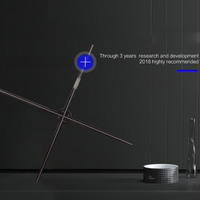 Профессиональный светодио дный 3D голографический проектор Портативный голограмма плеер 3D голографическая Дисплей вентилятор плеер голог