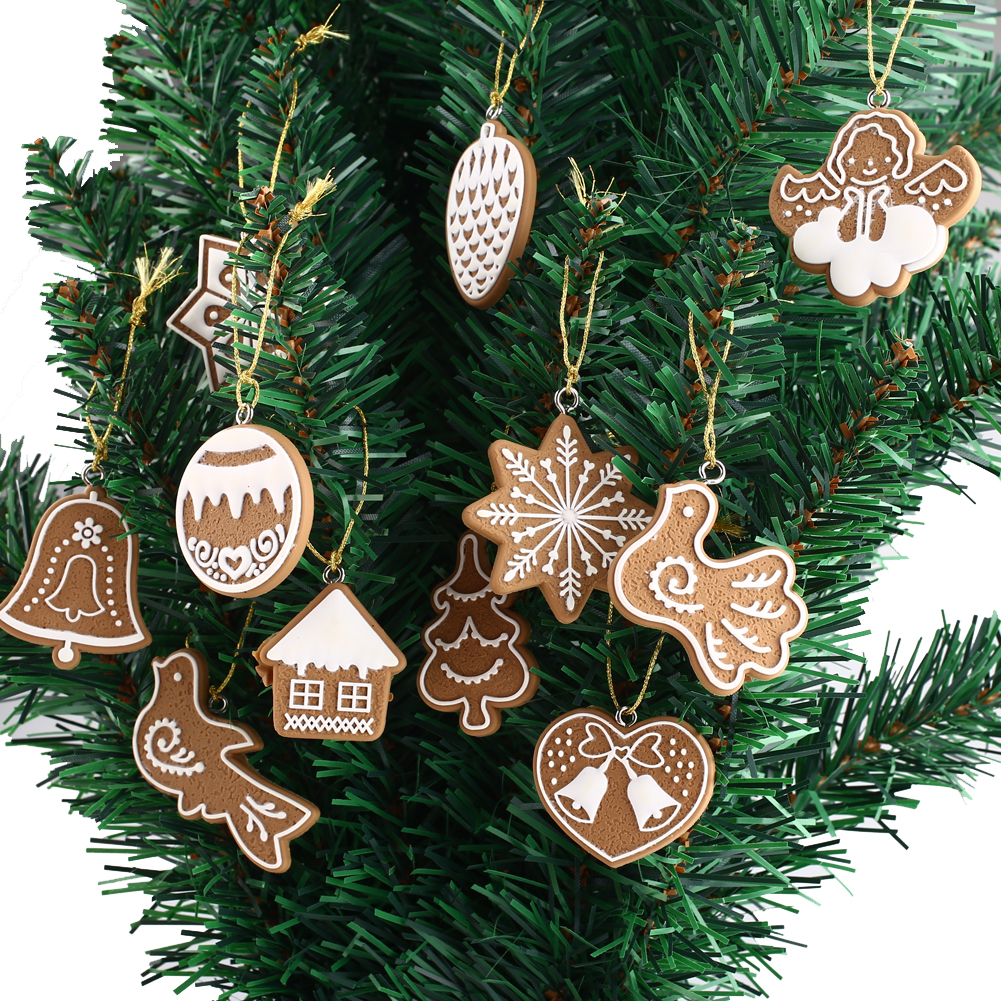 Bicycle Christmas Tree Decorations Ornaments: 11 Piece/lot Polymer Clay Fimo Decor Christmas Tree