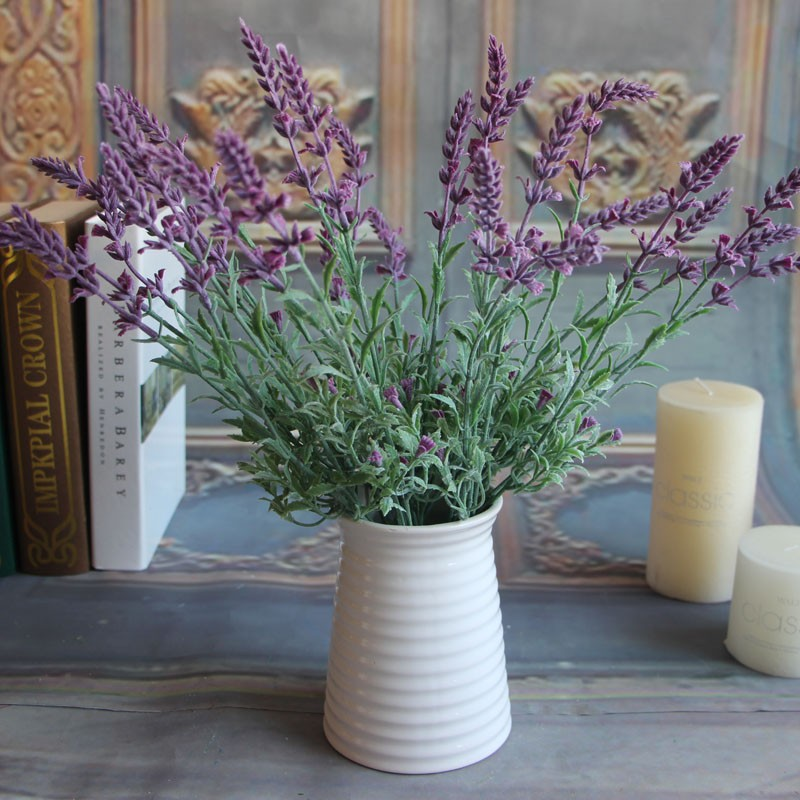 Artificial Flowers Fake Plants Lavender Leaves Grass Wedding Floral Mini Fresh Home Decor Flowers Arrangement Health