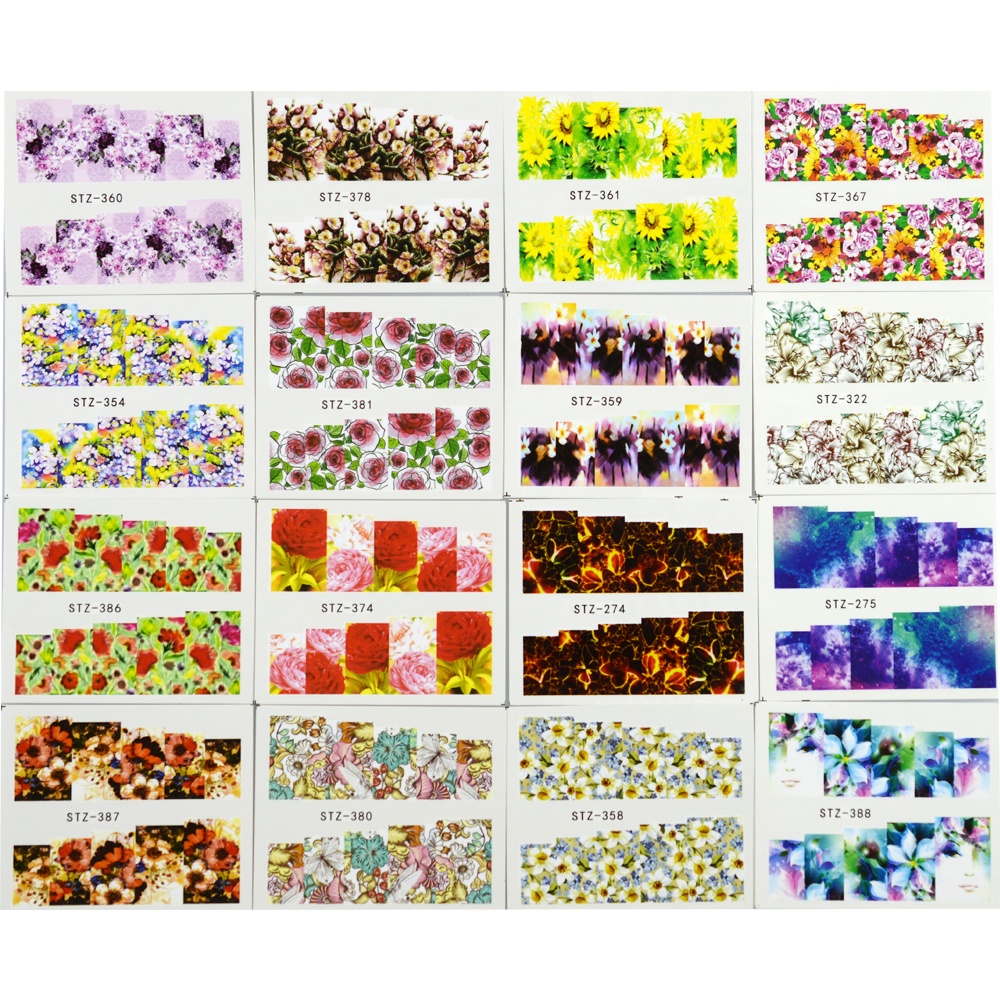 Stickers decals nail stickers nail art decals fashion - Aliexpress Com Buy 48pcs Mixed Colorful Fashion Water Transfer Decals Nail Art Diy Full Cover Designs Women Nail Sticker Nail Art Trstz352 391 From