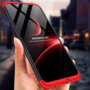 Image 1 - Dla Huawei P Smart 2019 360 stopni pełna ochrona etui z twardego plastiku dla Huawei P Smart 2019 POT LX3 Case szkło hartowane