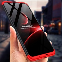 For Huawei P Smart 2019 360 Degree Full Protection Hard Plastic Cases POT-LX3 Case Tempered Glass