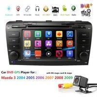 7 дюймов автомобиля радио головное устройство для Mazda3 3 2004 2009 двойной Din в тире стерео gps навигации автомобиля DVD проигрыватель компакт дисков