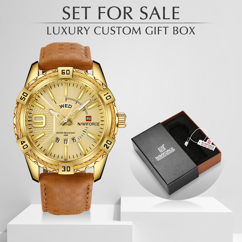 New NAVIFORCE Luxury Brand Men Fashion Watches Men's Waterproof Quartz Watch Male Clock With Box Set For Sale Relogio Masculino