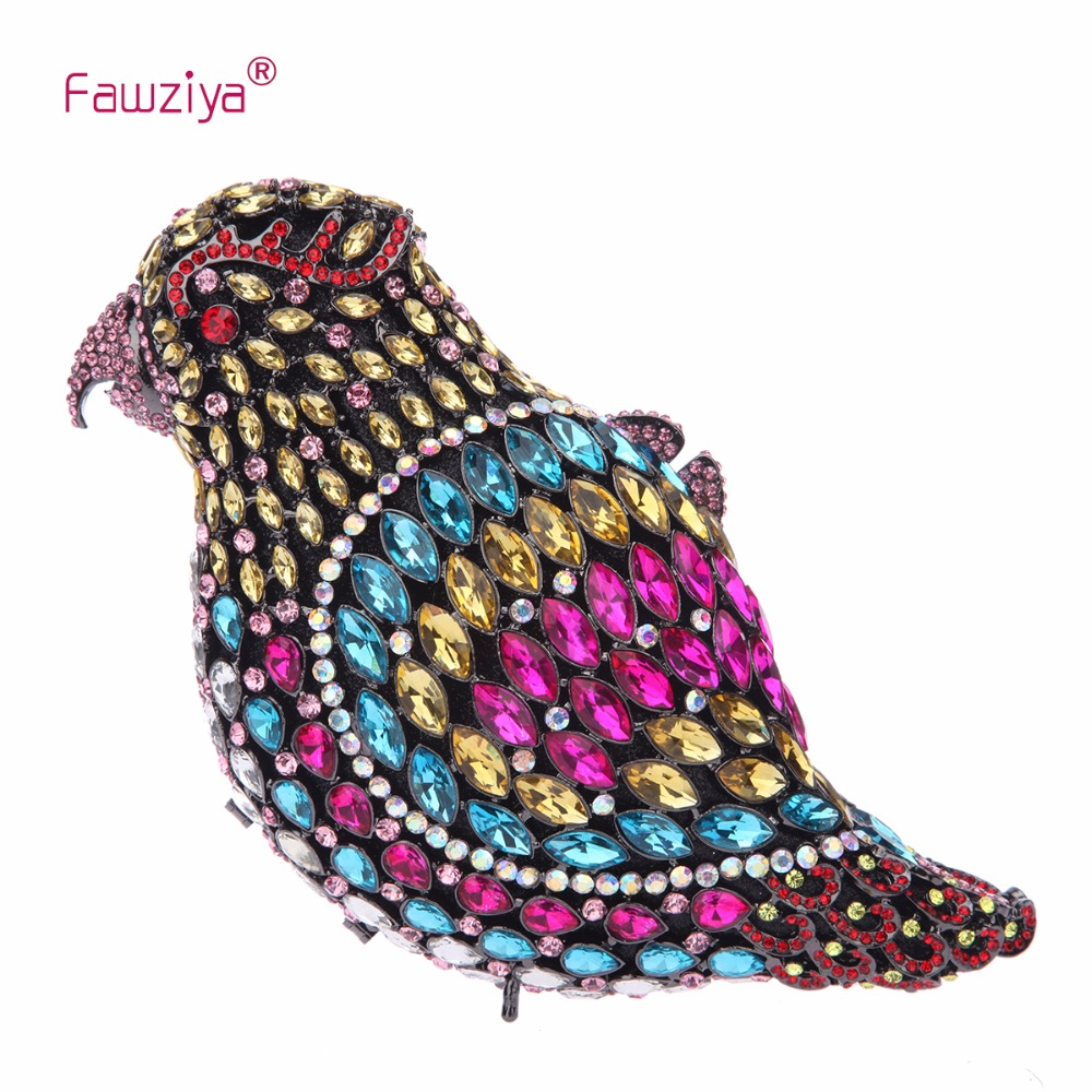 Fawziya Party Bags Cheap Parrot Crystal Clutch Purses And Handbags For Women Evening Bag