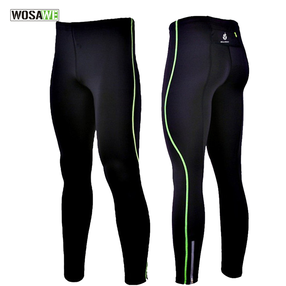 WOSAWE Mens Compression Tight Trouser Base Layer Skins Running Run Fitness Excercise Cycling Clothing Bicycle Bike Pants Gear