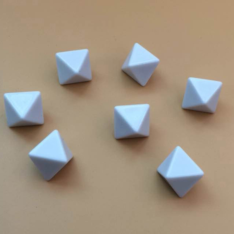10 pièces 8 dés dés blanc dés blanc acrylique Cube écrit par stylo jeu de société, bricolage, amusement et enseignement fête jeux de famille enfants jouets
