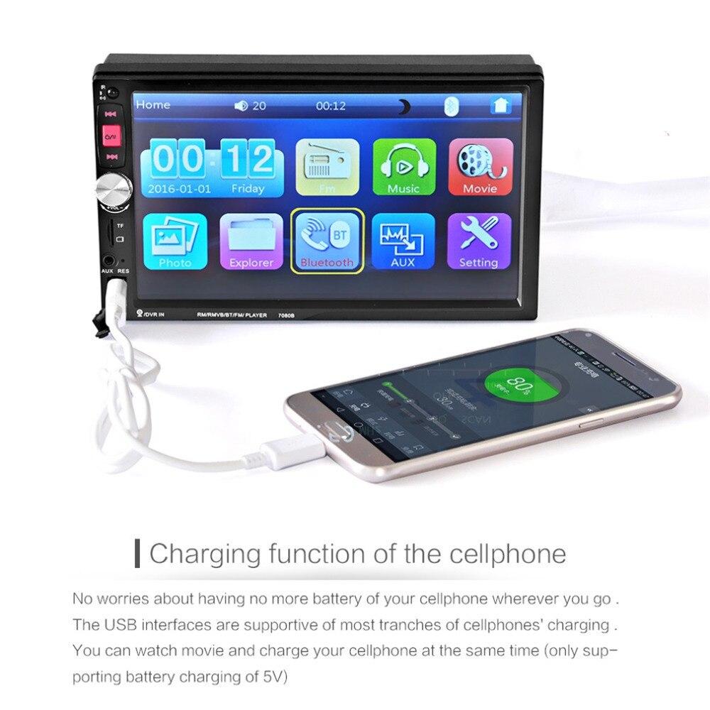 Новинка 2017 года 7080B автомобиля видео плеер 7 дюймов с HD Сенсорный экран Bluetooth стерео радио Автомобильный MP3 MP4 MP5 аудио USB Авто электроника