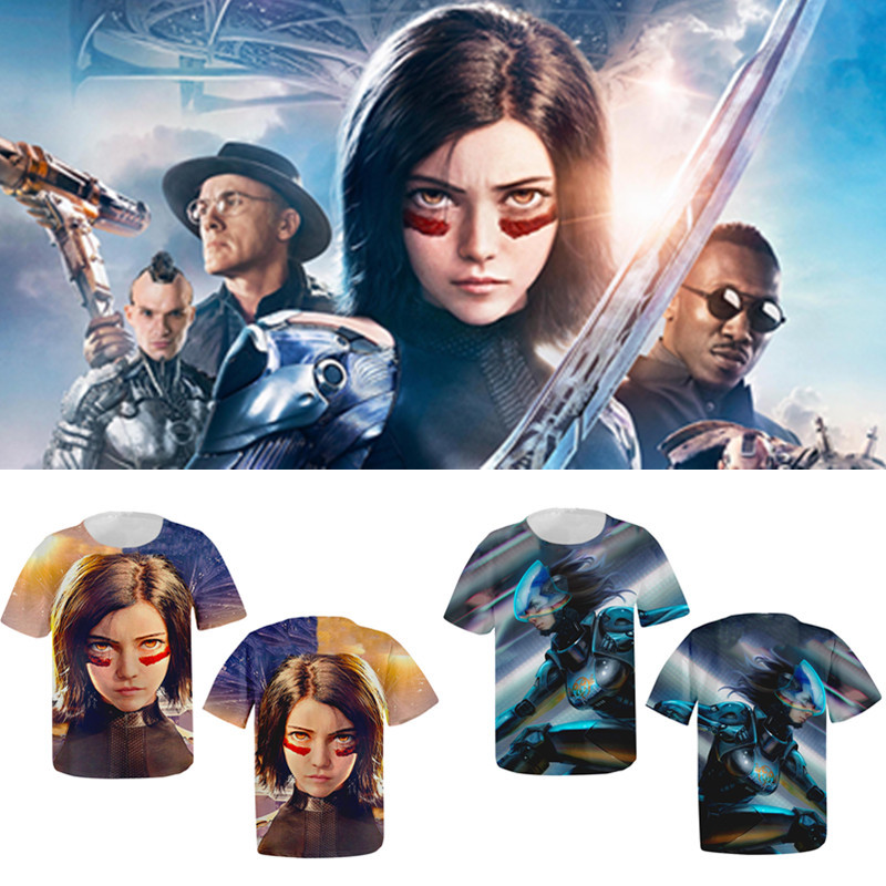 New Hot Movie Alita: Battle Angel 3D Print Tshirt Men/Women Hip Hop Streetwear Tee T shirt 90s Boy Hipster Tops Clothes