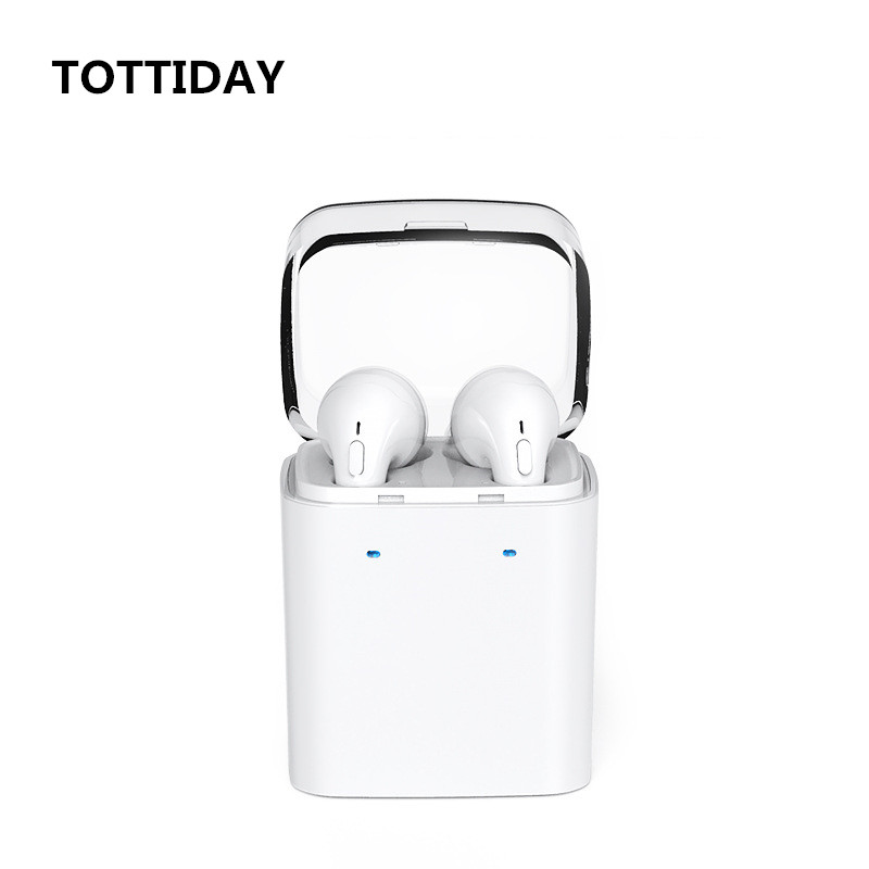 TOTTIDAY TWS True Wireless Bluetooth Headset Mini Bluetooth 4.2 Wireless Earpiece Earbuds In-Ear Earphone For Iphone 8 7 Android katie mulholland