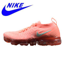 newest 93bc4 63da5 Original Nike aire Vapormax Flyknit 2018 mujeres corriendo Zapatos rosa  absorción de choque antideslizante transpirable ligero 9.