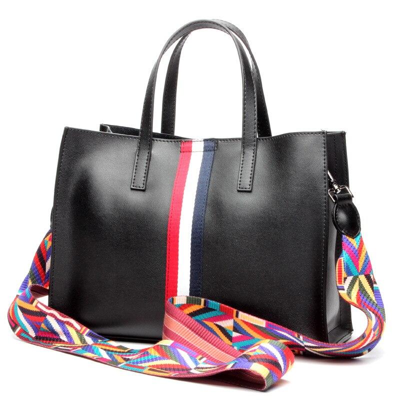 2017 donne del cuoio genuino borse primavera moda femminile borsa a tracolla signore totes grande marca ipad rosa donne crossbody bag