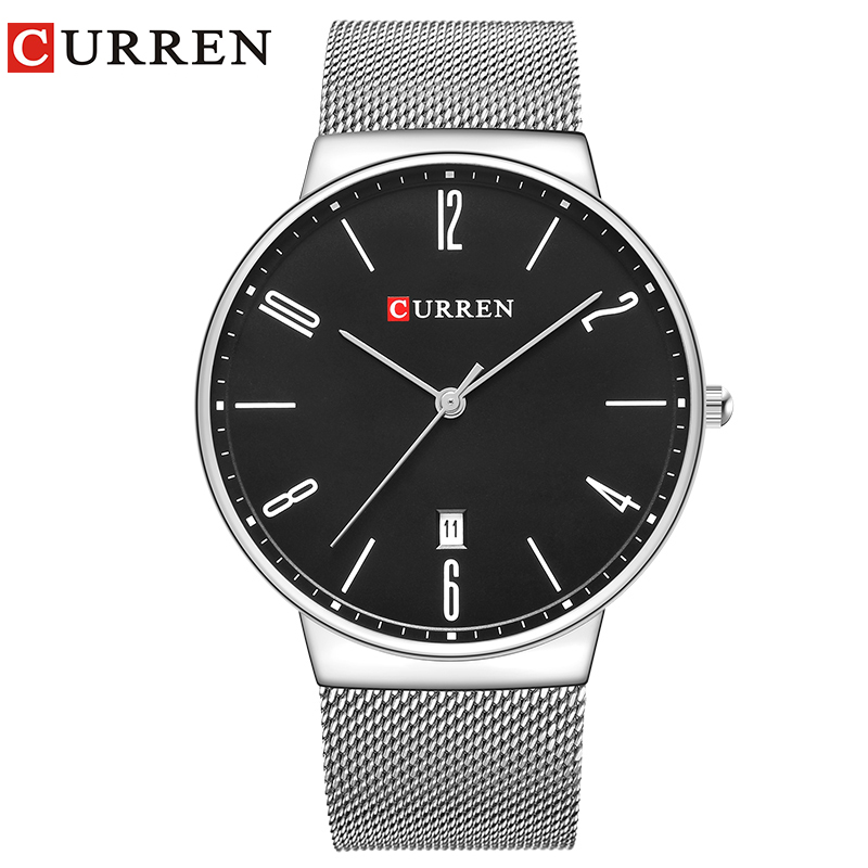 CURREN Fashion Wach Wrist male Watches Men date Quartz Watch Ultra thin Dial Clock Man Relogio Masculino Saat Drop Shipping 8257