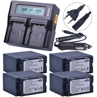CGR-D54 CGR D54 D54S 4PCS Rechargeable Battery +LCD Rapid Dual Charger for Panasonic CGA-D54S Battery CGA-D220  CGA-D320 CGA-D54