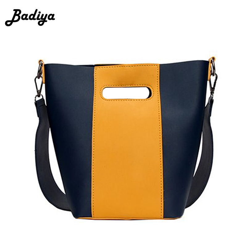 Women Fashion Patchwork Leather Tote Bag Wide Strap Shoulder Bag Casual Women Handbags