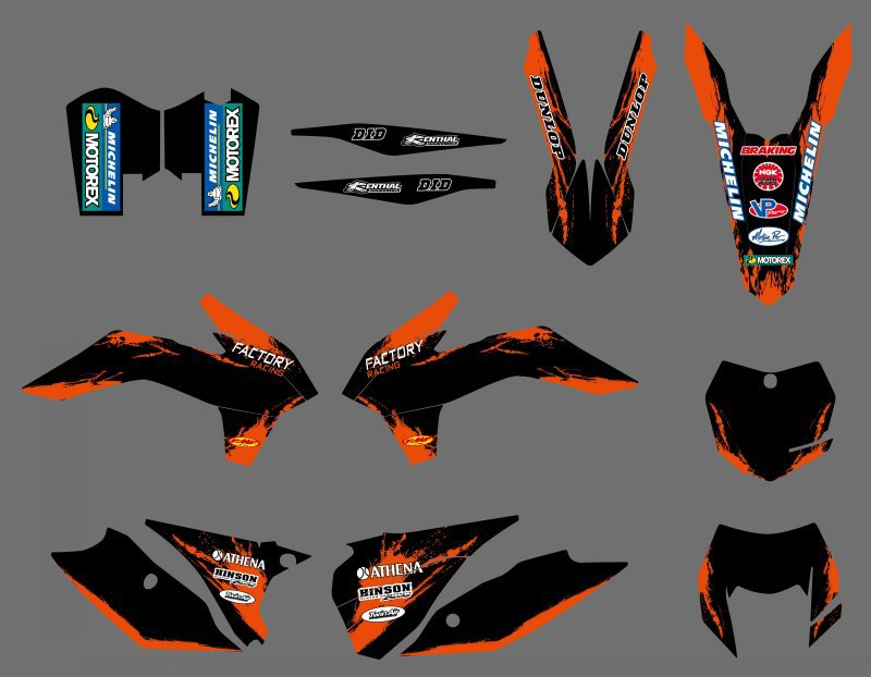 NEW TEAM GRAPHICS DECALS STICKERS FOR KTM 125 200 250 300 450 500 EXC XCW XCF XCFW SIX DAYS 2014 2015 2016 0584 new team graphics with matching backgrounds for ktm 125 200 250 300 450 500 exc xc w xcf w six days 2014 2015 2016