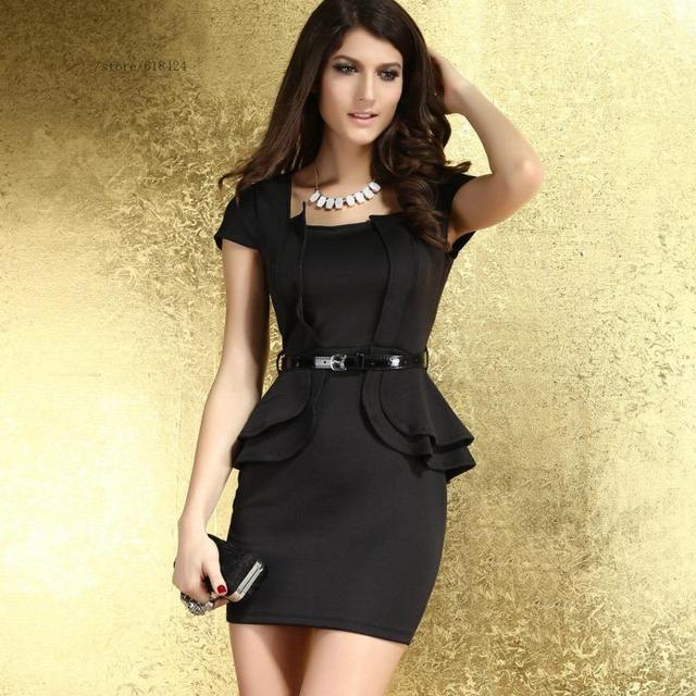 Black Hot Sale Cute Fashion Women Ladies European Style Short Sleeve