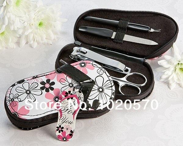 Wedding favors of Traditional Flower Flip Flop Manicure Set Good For Wedding Gift bridal shower favors
