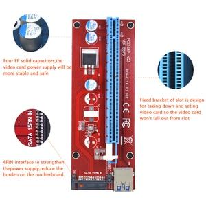 Image 2 - 10pcs TISHRIC VER007S PCI Express PCIE PCI E Riser Card 007 007S 1x to 16x Extender USB3.0 Cable 15pin SATA for BTC Mining Miner
