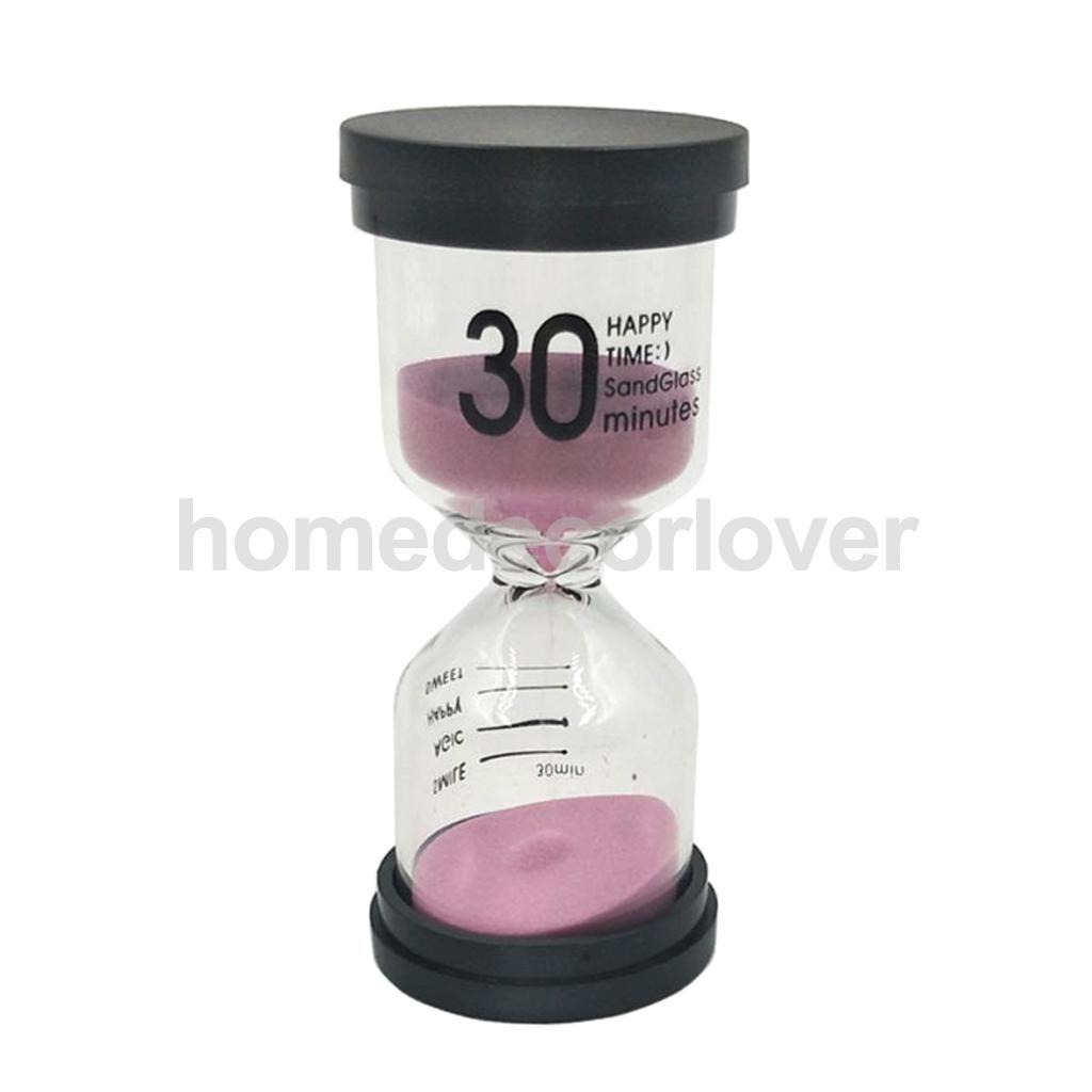 Multi-color Round Shape Sand Glass Hourglass 30 Minutes Egg Timer Kitchen Cooking Utensils Home Desk Bookshelf Decoration