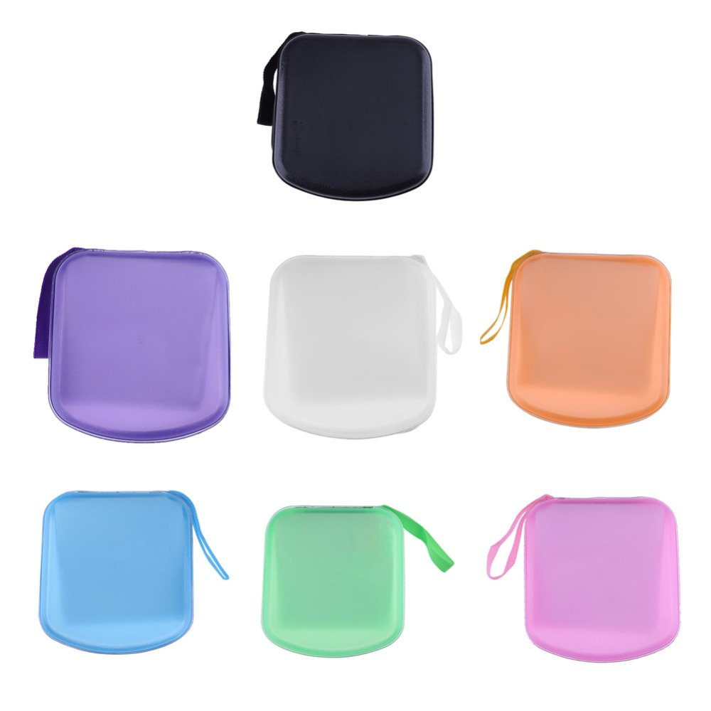 ALLOYSEED Portable CD Case Plastic 38Pcs Capacity Disc CD DVD VCD Wallet DJ Storage Organizer Carry Case Holder 7 Candy Colors