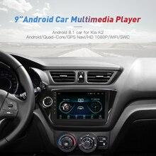 2din Android 8.1 WIFI GPS Navigation Autoradio Pour Kia K2 Rio 2012 2013 2015 2016 DVD de Voiture Lecteur Vidéo stéréo Magnétophone