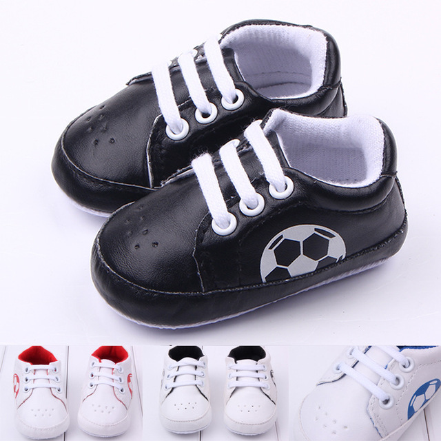 6edb68ec8374 Anti-slip Soft Sole Football Sport Sneakers 3-18M Soccer Baby Boy Girls  Crib Shoes Kid Leather Lace-Up Infant Boots Bebe Booties