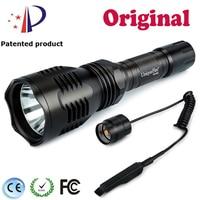UniqueFire 1200LM HS 802 XM L2 Black Torch+Pressure Switch Tempered Glass Lens Led Flashlight 5Modes