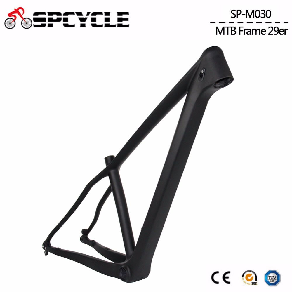 Spcycle 29er Boost Mountain MTB Bicycle Carbon Frames ,Chinese MTB Bike Carbon Frames Thru Axle 148x12mm or 142*12mm(China)