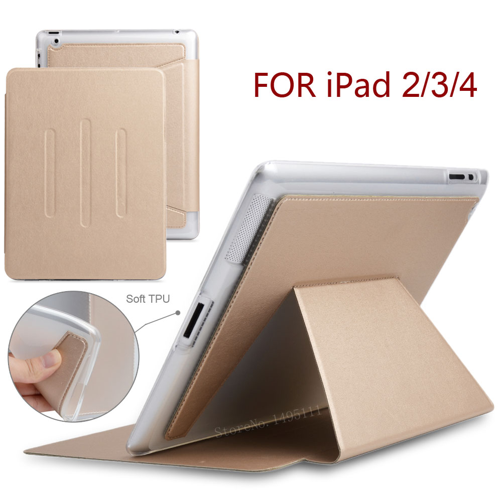 Stand card package Case for iPad 2 3 4, PU Leather Front Cover +Soft TPU Magnetic Sleep Smart Case for iPad2 iPad3 iPad4 cover case for huawei p8 lite half a face of a cat pu tpu leather with stand and card slots magnetic closure