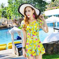 4 Colors High Quality Women S Swimsuits Modest Swimwear Women Swimdress One Piece Bathing Suit M