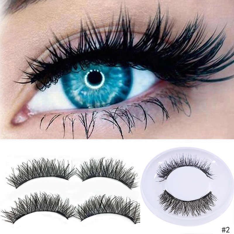 eb57d662dd7 4 Pcs 3D Magnetic False Eyelashes Natural Realistic Magnet eyelashes Double  3D Reusable False Eye Lashes
