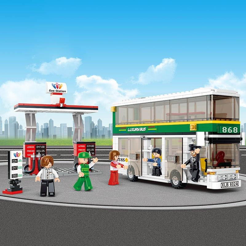 model building kits compatible with quiz city bus 815 Legoe 3D blocks Educational model & building toys hobbies for children