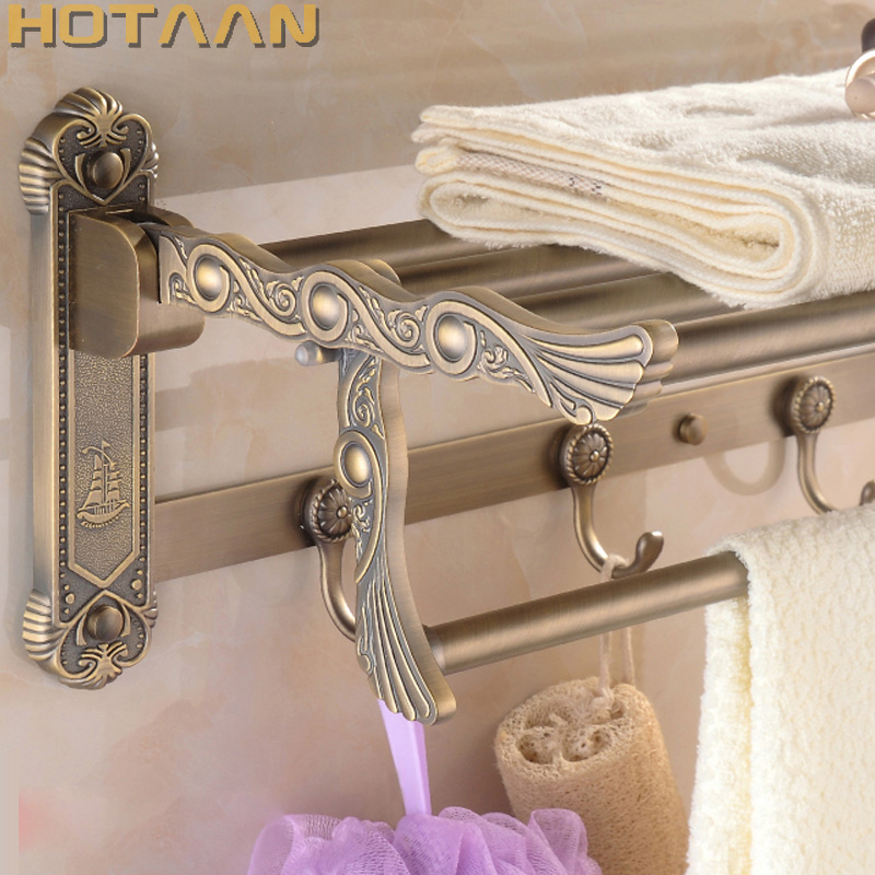 FREE SHIPPING, Bathroom towel holder, zinc alloy antique brass towel rack,60cm bath towel rack ,YT-4011 free shipping bathroom towel holder zinc alloy antique brass towel rack 60cm bath towel rack yt 4011
